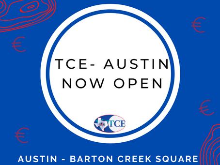TEXAS CURRENY EXCHANGE NOW OPEN IN AUSTIN, TEXAS (BARTON CREEK SQUARE)