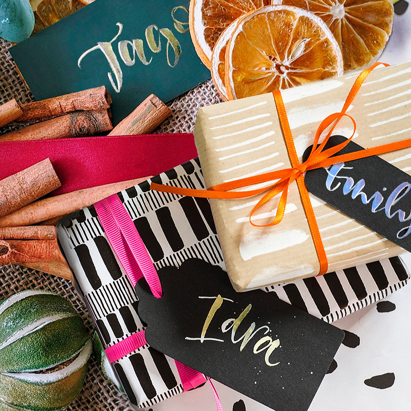 19/11  Christmas Sparkle -  Brush Gift Tags and Wrap - Online