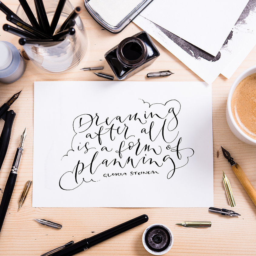 14/10 Modern Calligraphy Course - 10 Weeks PM Online