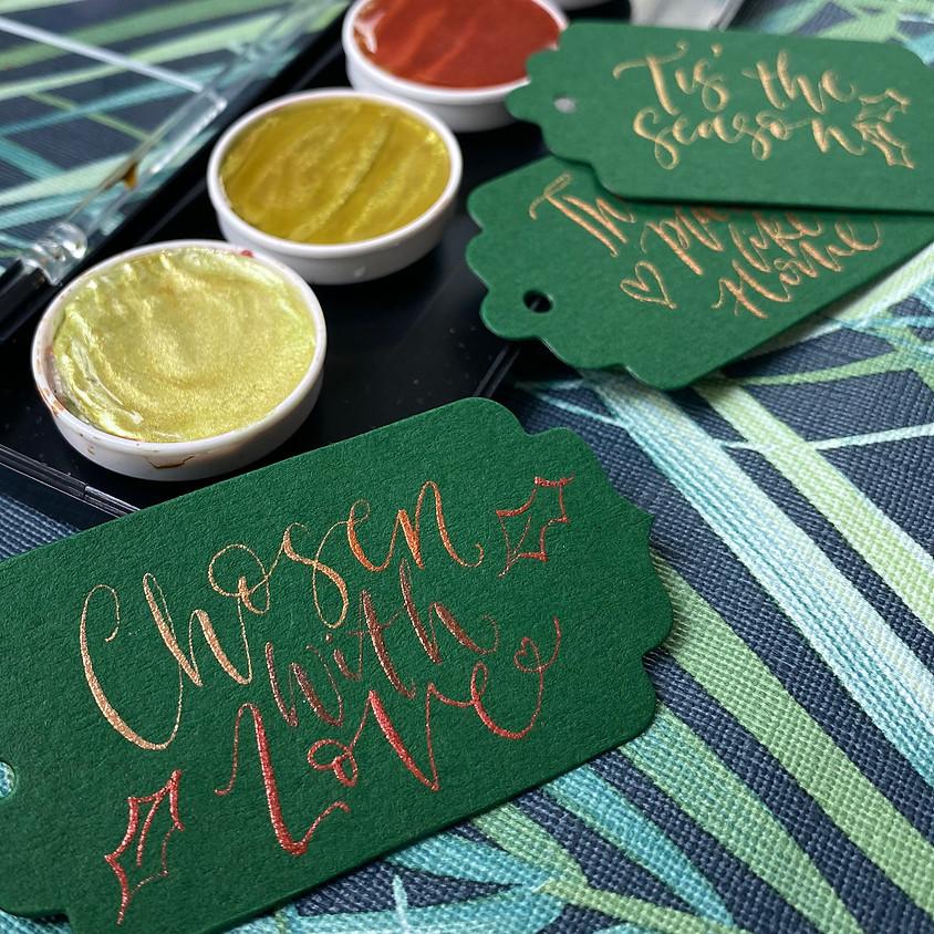 22/12 Brighton: Christmas Sparkle -  Nib Calligraphy - 19:00 to 21:30