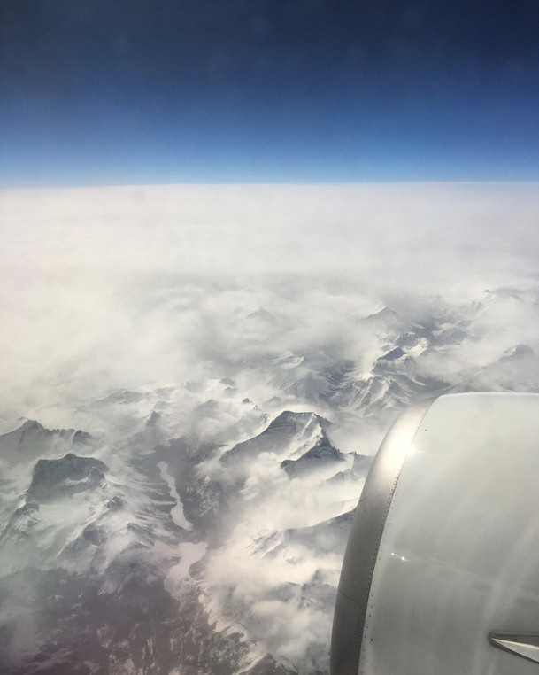 Somewhere over the Rockies!