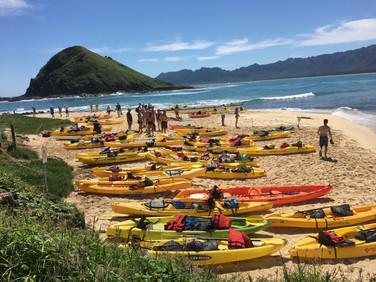 sea kayakers @ Mokulua Islands
