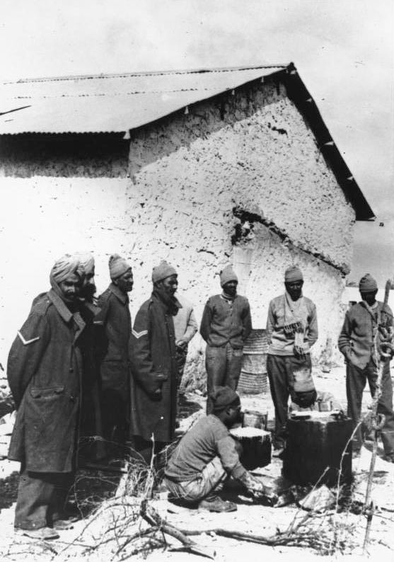 Indian Prisoners of War in Libya, c. 1941 (Source: Bundesarchiv)