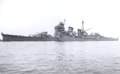 The IJN Ashigara at the Spithead Review in 1937. (Source: Wikimedia)