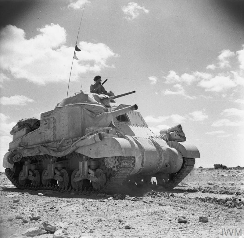 A Grant tank on patrol near Mersa Matruh, 26 June 1942. (Source: © IWM (E 13773))