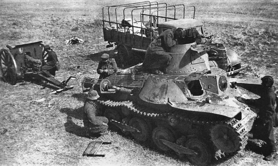A japanese Type 95 Ha-Go captured by Soviet troops after the Battle of Khalkhin Gol in 1939. (Source: Wikimedia)