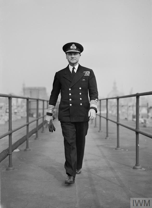 Admiral Sir Bertram Ramsay KCB MVO Allied Naval Commander-in-Chief of the Expeditionary Forces, photographed at his London Headquarters at Norfolk House. (Source: © IWM (A 23443))