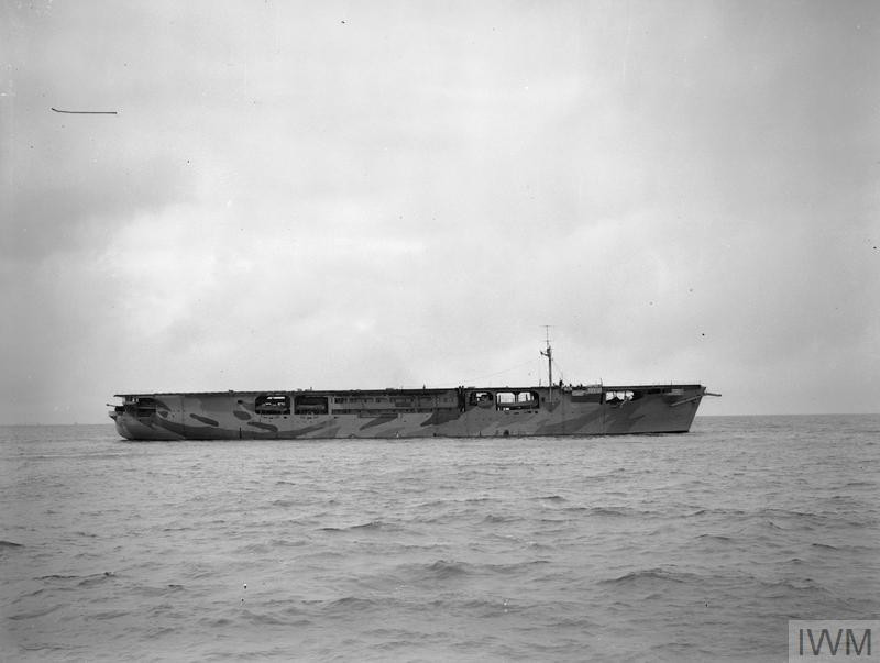 HMS 'Audacity,' the Royal Navy's first escort carrier. (Source: © IWM (A 5449))