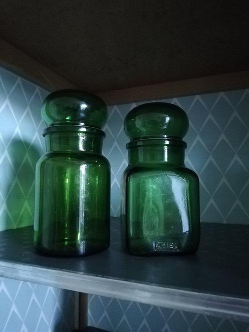 Le lot de 2 flacons vert