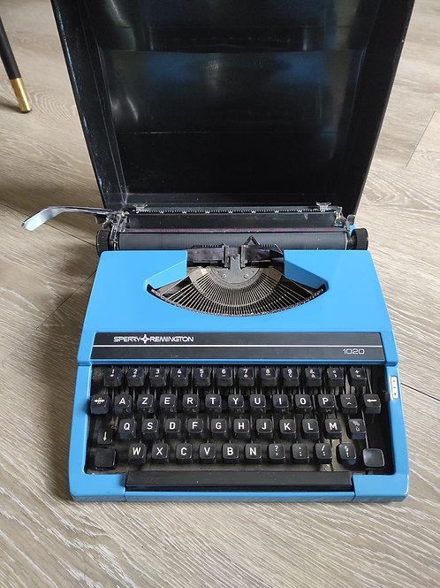 Machine a écrire remington bleu franc