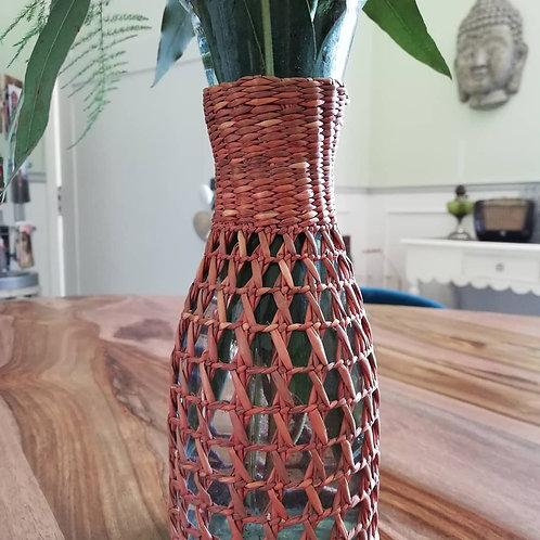 Vase en rotin