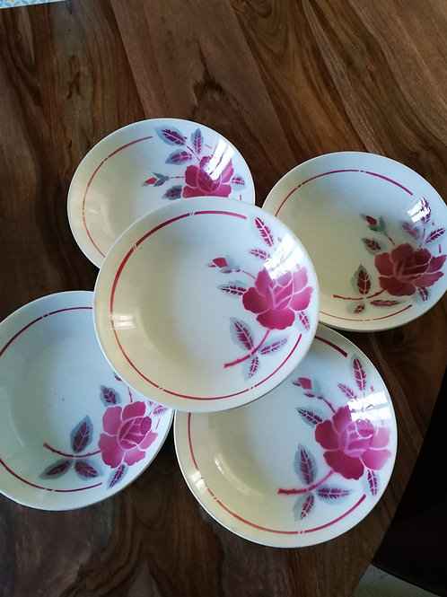 Lot de 5 assiettes creuses