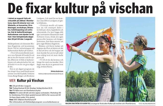 Kultur på vischan 2015, Malena Engström, Karin Toll