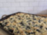 The beautiful blueberry crumble that is