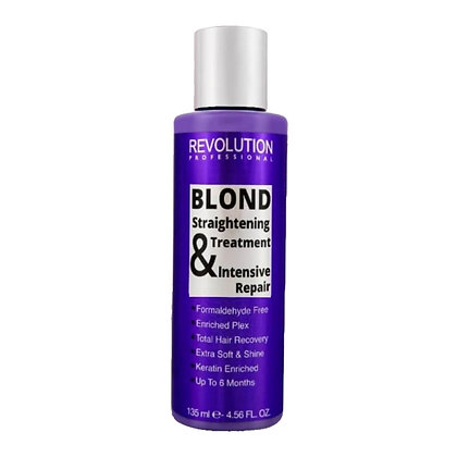 ערכת החלקת קראטין ביתית לשיער בהיר ללא פורמלין REVOLUTION PROFESSIONAL
