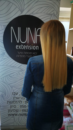 תוספת שיער בהיר חלק