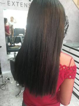 תוספת שיער חלק בגוון חום