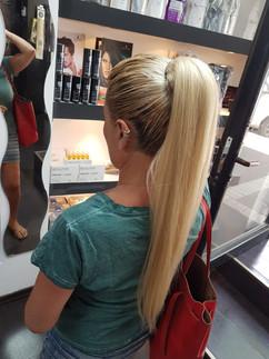 תוספת שיער אדם - קוקו בלונדיני חלק