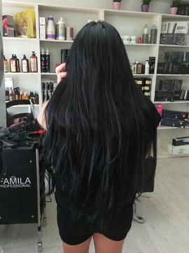תוספות שיער שחור 100% טבעי באורך מיוחד