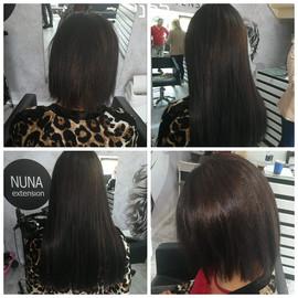 לפני ואחרי חיבור תוספות שיער