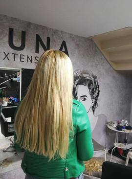 אחרי חיבור תוספות שיער