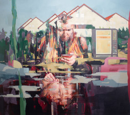 Berge, 2021, oil-canvas, 120x135 cm