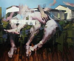 Schrebergarten, 2012, oil - canvas, 145 x 180 cm
