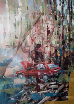 Biss, 2018, oil-canvas, 70x50 cm