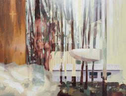 Hütte, 2016, oil canvas, 42x32 cm