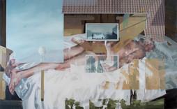 Festung, 2018, oil-canvas, 155 x 95 cm