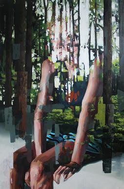 Sicht II, 2013, oil - canvas, 260 x 170 cm