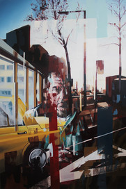 Sicht III, 2013, oil - canvas, 260 x 170 cm