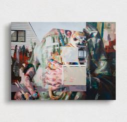 wuff, 2020, oil-wood, 20x30x6 cm