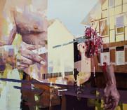 Fleisch, 2015, oil - canvas, 130 x150 cm