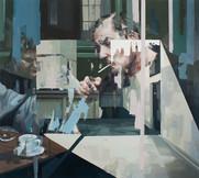 Cabinet, 2018, oil-canvas, 125 x 140 cm
