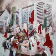 Lobeda, 2020, oil-canvas, 60x60 cm