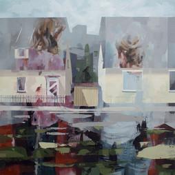 Schlucht, 2018, oil-canvas, 54x54 cm
