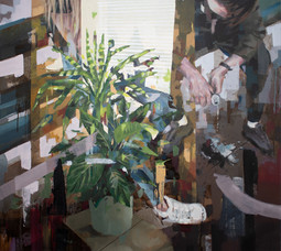 Stoff, 2019, oil-canvas, 93x82 cm
