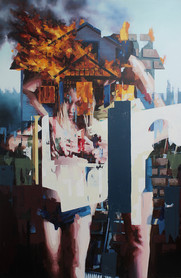 Sicht I, 2013, oil - canvas, 260 x 170 cm