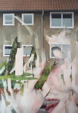 kiss, 2017, oil - canvas, 160 x 110 cm