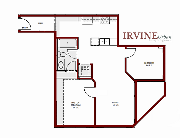 2 Bedroom Irvine In Inglewood