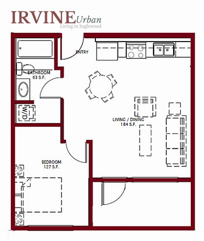 1 Bedroom Irvine In Inglewood