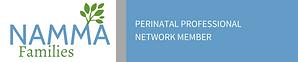 NAMMA Families Perinatal Professional Network Member banner