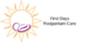 Logo : Yellow sun, purple baby inside