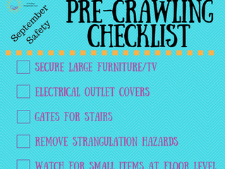 September Safety - A Checklist for Parents of Pre-Crawlers
