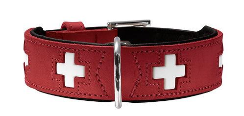 Collier en Cuir Suisse - Rouge