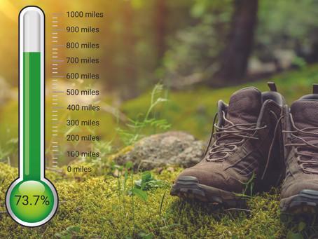 One week left to reach 1000 mile target