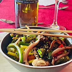 Wok de verduretes i Udon