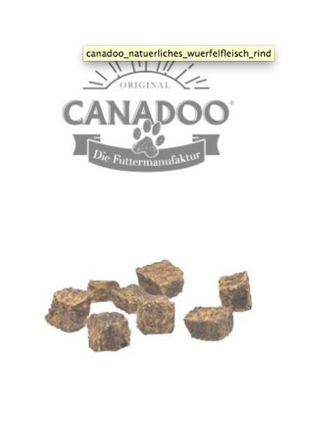 Canadoo 100% Rind natürliches Würfelfleisch