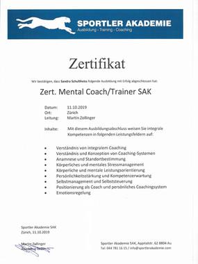 Mental Coach/ Trainer